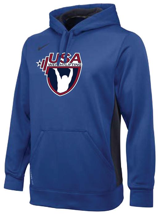 Nike Men's USAW Therma-Fit KO Training Hoodie - Blue