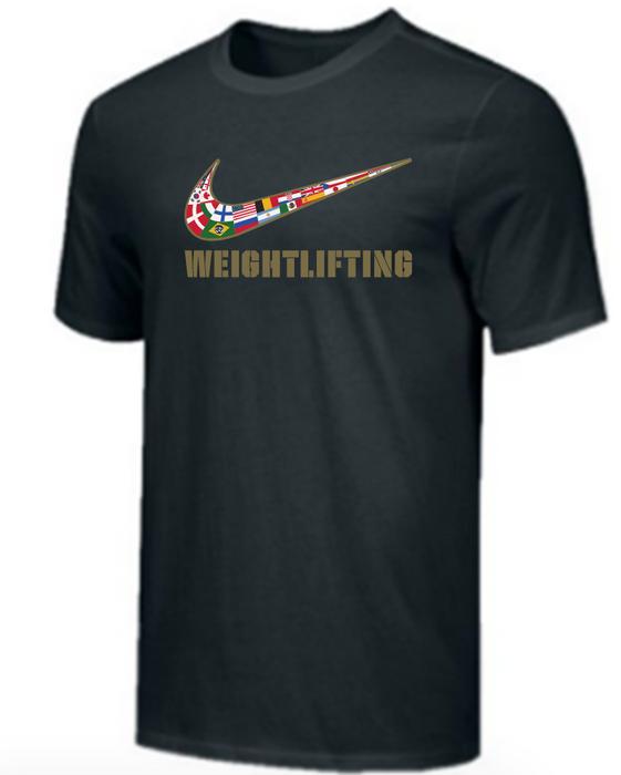 Nike Youth Weightlifting Multi Flag Tee - Black