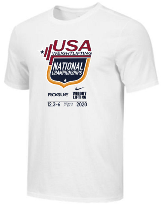 Nike Men's USAW National Championships Tee - White