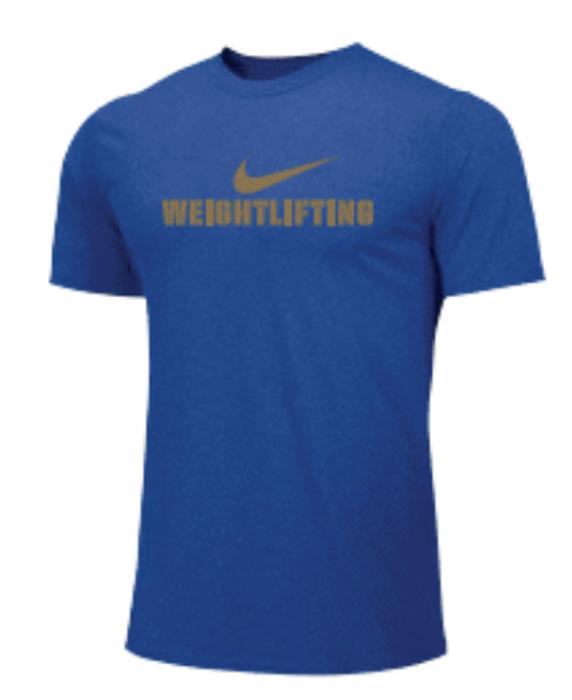 Nike Men's Weightlifting Tee - Gold/Royal