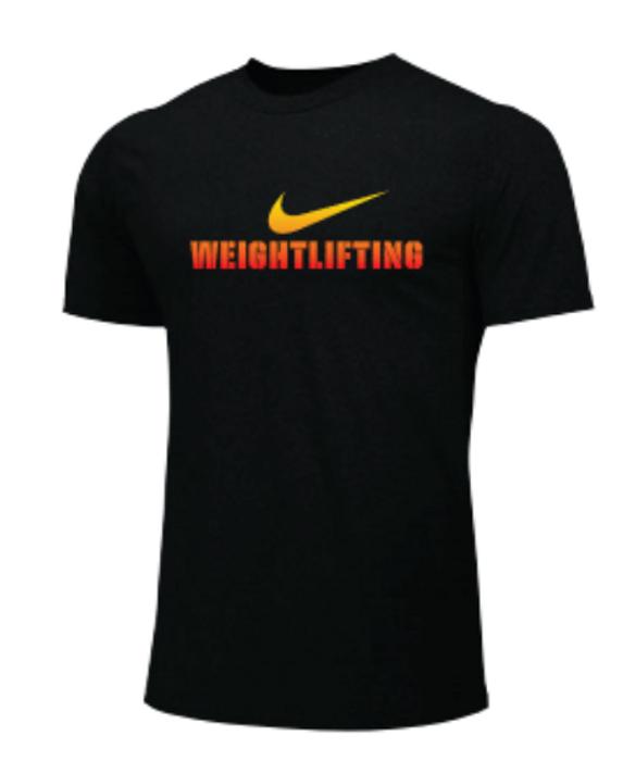 Nike Men's Weightlifting Tee - Black/Orange/Yellow