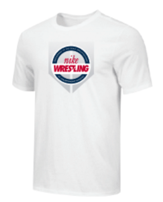 Nike Youth Wrestling Shield Tee - White