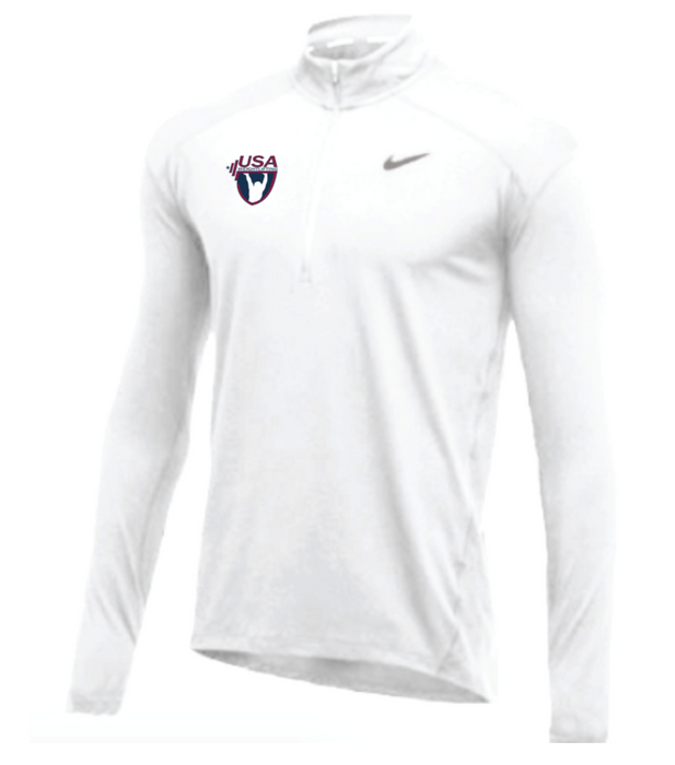 Nike Men's USA Weightlifting 1/2 Zip Top - White
