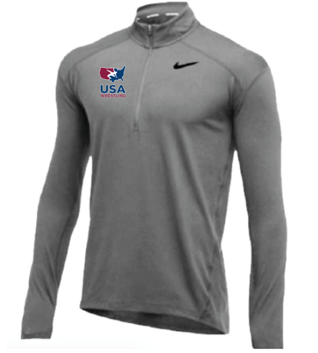 Nike Men's USA Wrestling 1/2 Zip Top - Grey