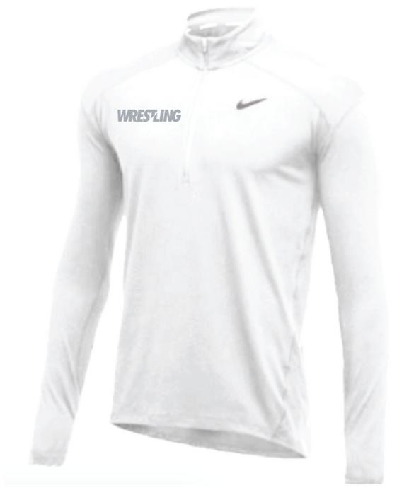 Nike Men's Wrestling 1/2 Zip Top - White