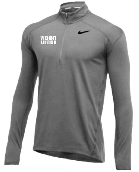 Nike Men's Weightlifting 1/2 Zip Top - Grey