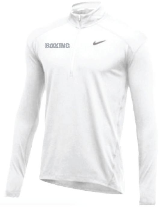 Nike Men's Boxing 1/2 Zip Top - White