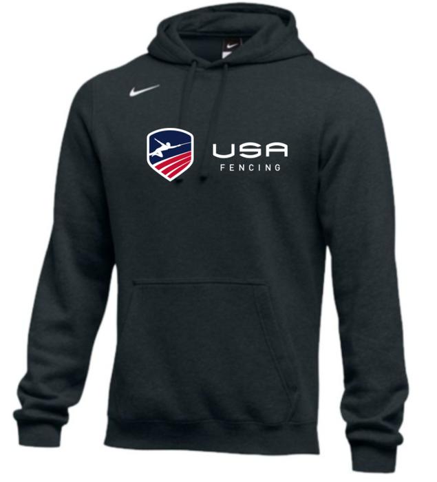 Nike Men's USA Fencing Club Fleece Pullover Hoodie - Black