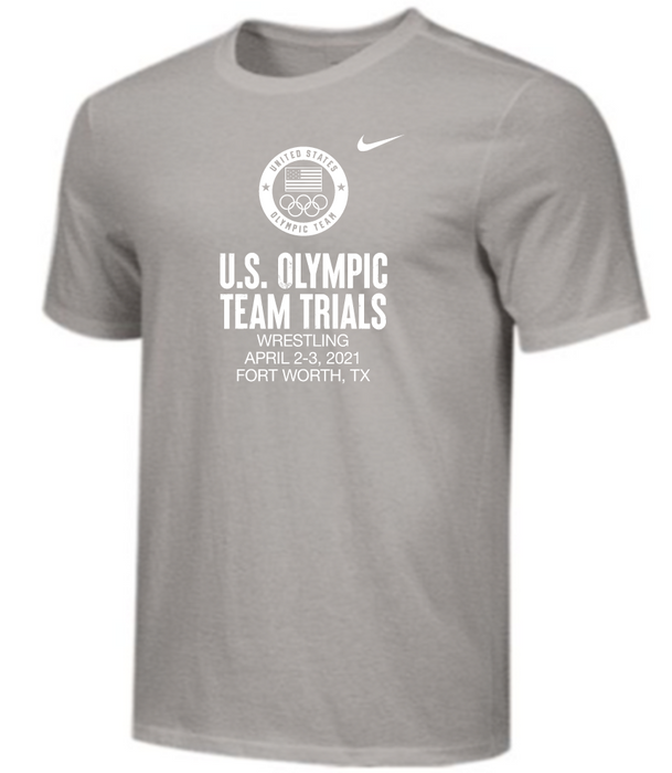 Nike Men's USA Wrestling Olympic Trials Tee - Grey
