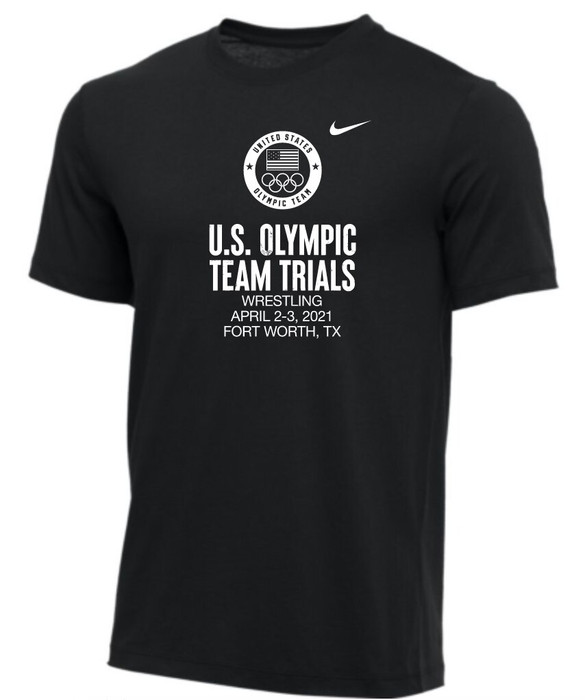 Nike Youth USA Wrestling Olympic Trials Tee - Black