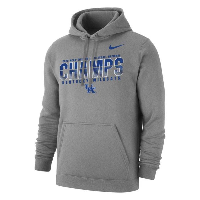 Nike Women's Kentucky Wildcats 2020 Volleyball National Champions Hoodie - Grey