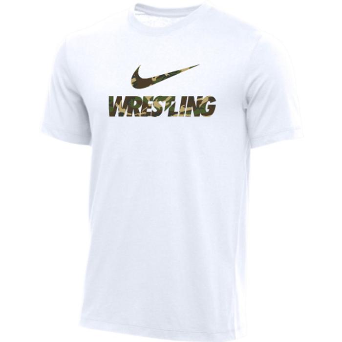 Nike Men's Wrestling Tee - Camo/White