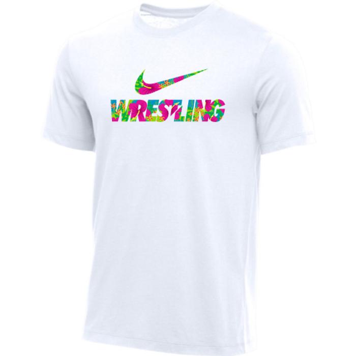 Nike Men's Wrestling Tee - White/Floral