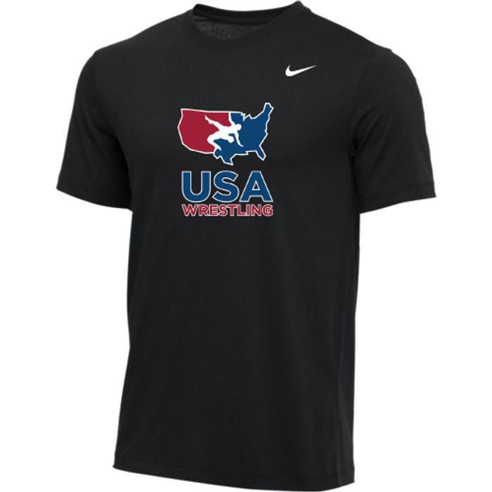 Nike Men's USA Wrestling Tee - Black