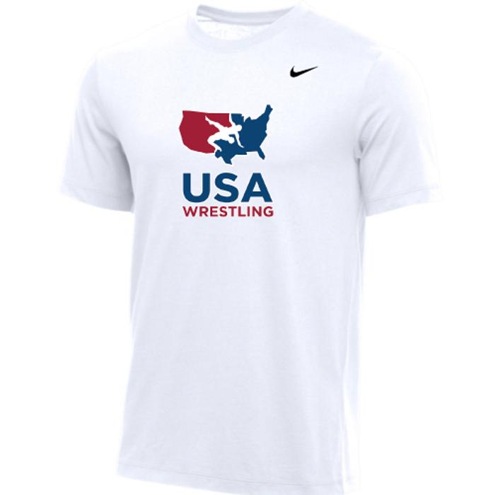 Nike Men's USA Wrestling Tee - White