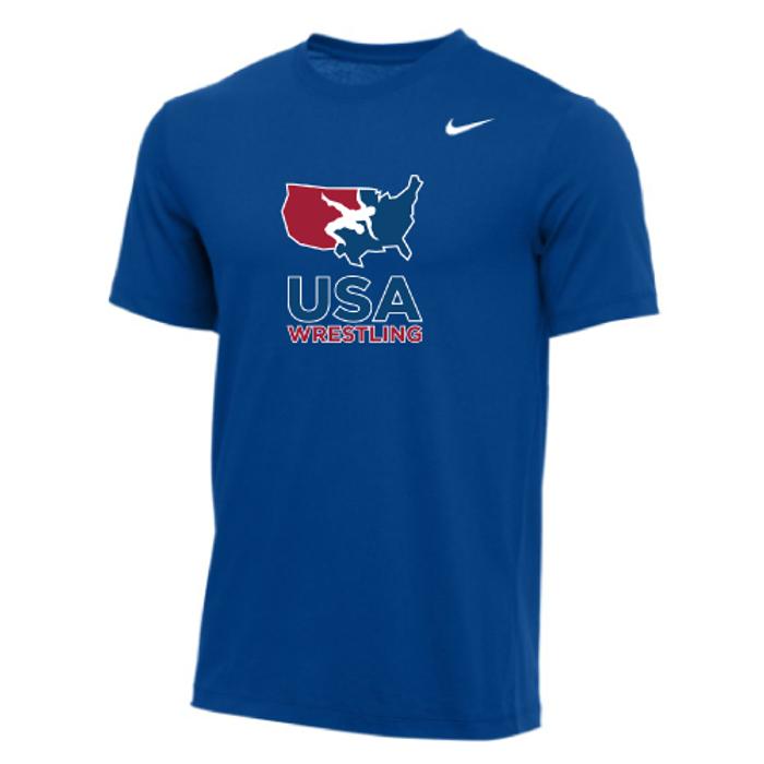 Nike Men's USA Wrestling Tee - Royal