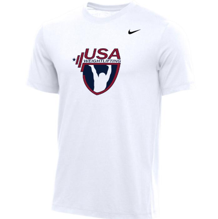 Nike Youth USA Weightlifting Tee - White