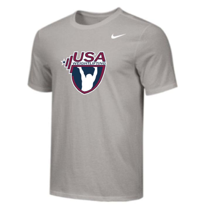 Nike Youth USA Weightlifting Tee - Grey
