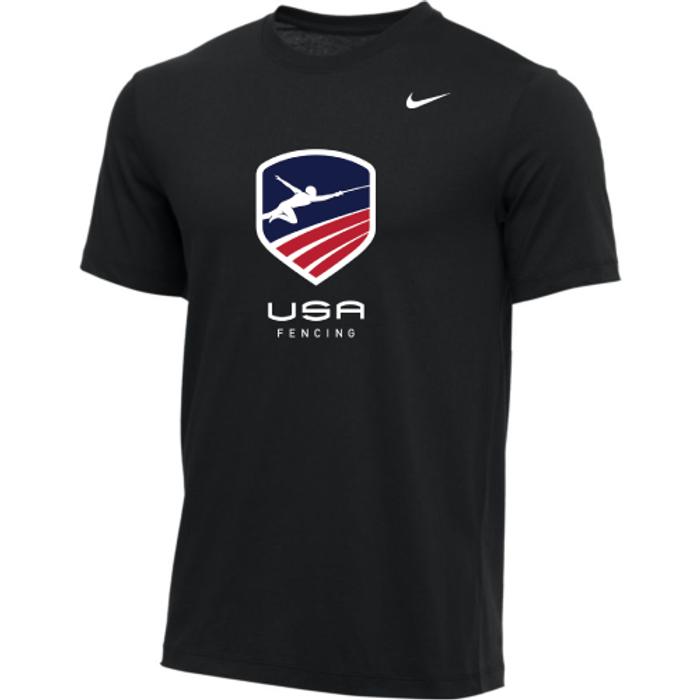 Nike Youth USA Fencing Tee - Black