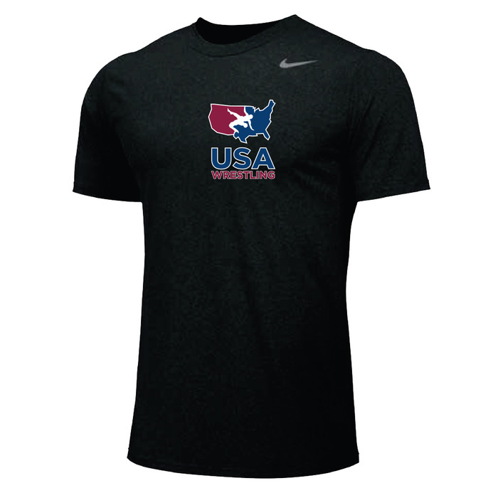 Nike Youth USA Wrestling Team Legend SS Crew - Black