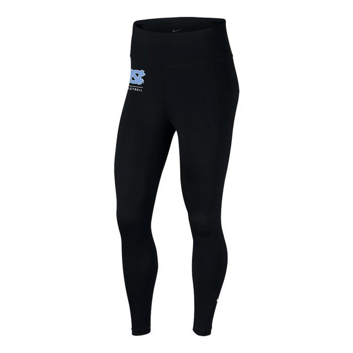 Nike Women's University of North Carolina One Tight - Black/Light Blue