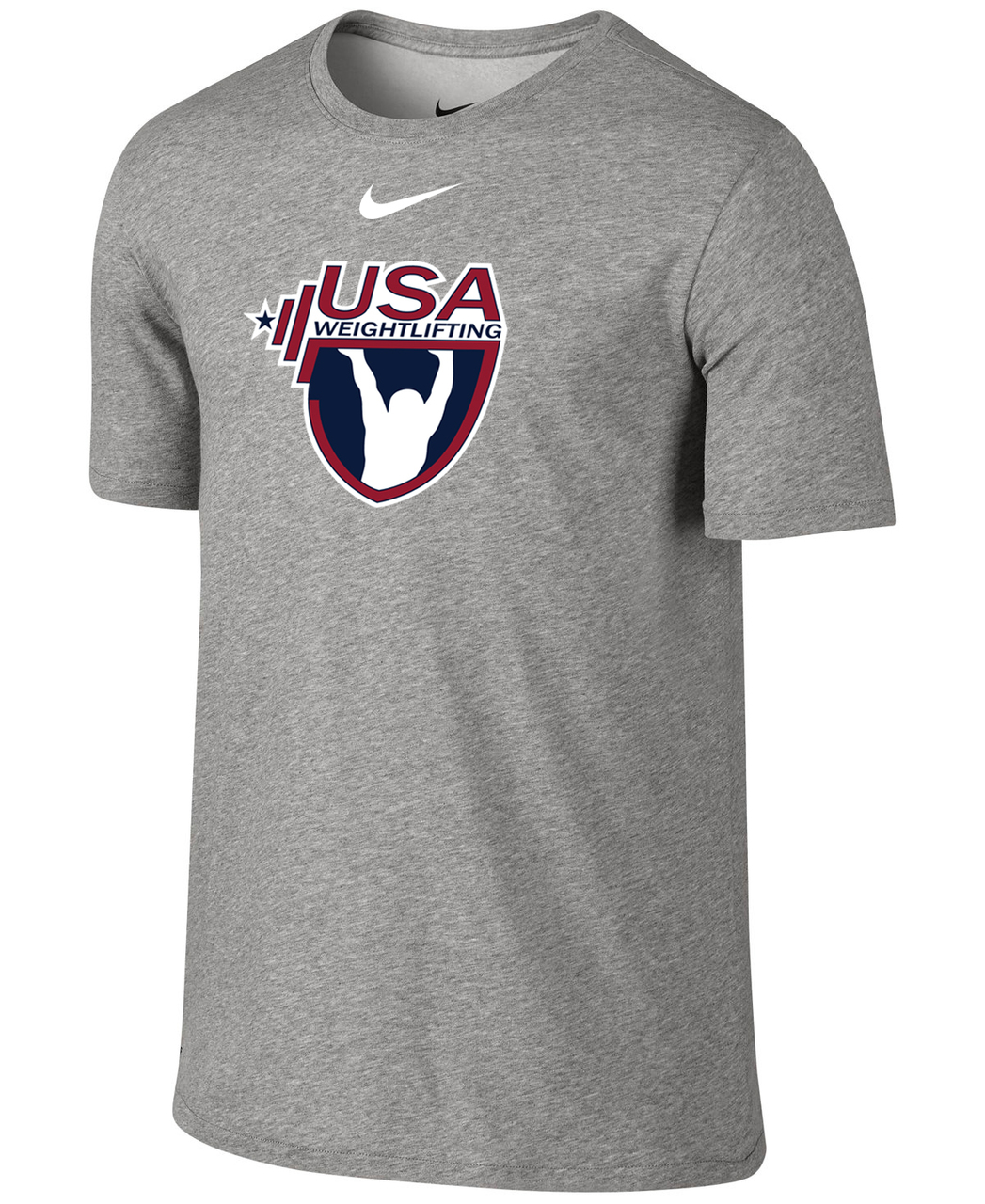 huge discount 48819 05589 Nike Mens USAW 3-D High Density Silicone Logo Team Legend SS Crew - Grey