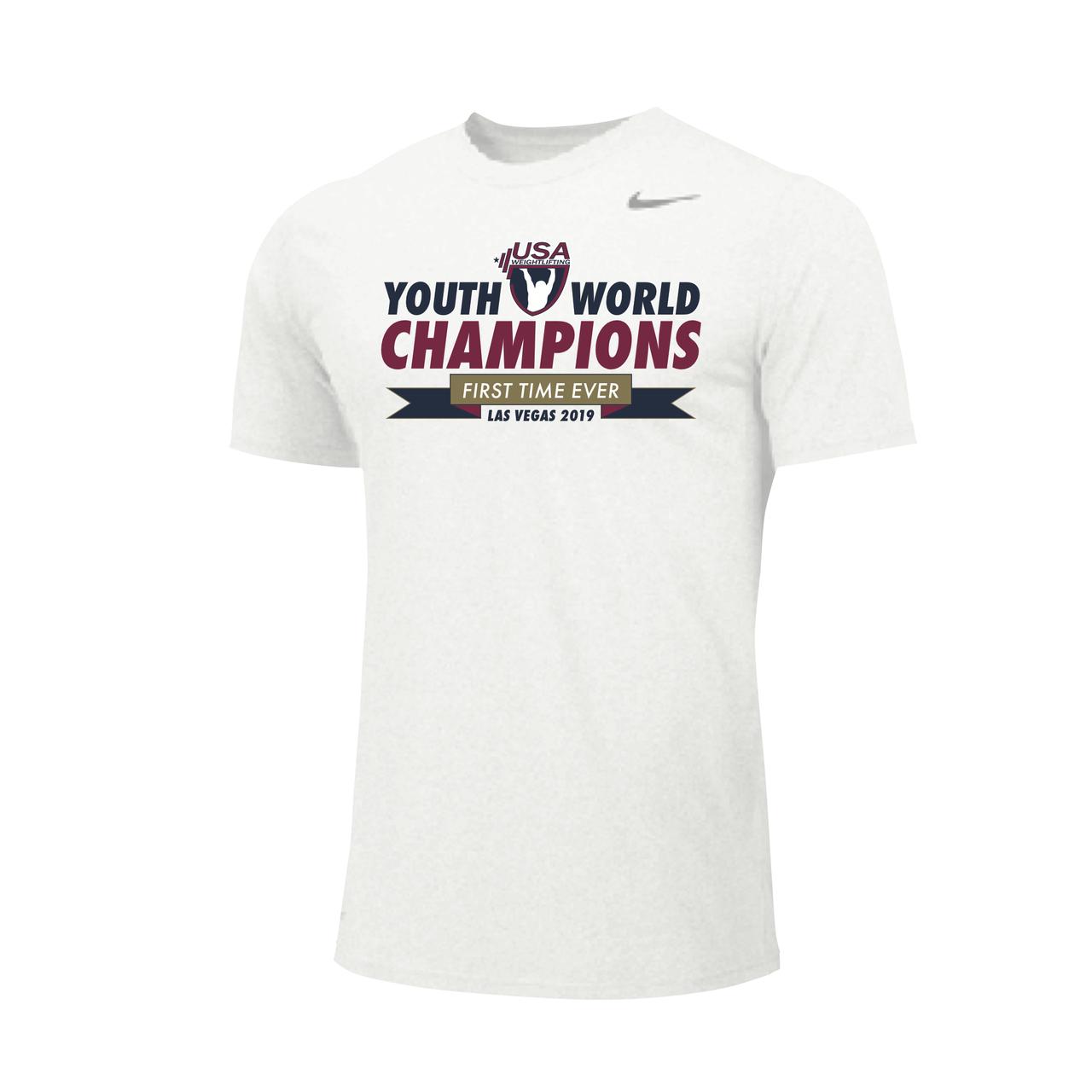 1078743da789 Nike Men s USAW IWF Youth Worlds Championship Legend Tee - White