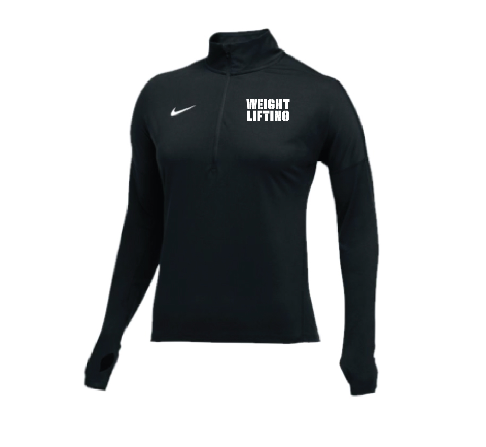6c5858a55dec Nike Women s Weightlifting 1 2 Zip Dry Element Top - Black White