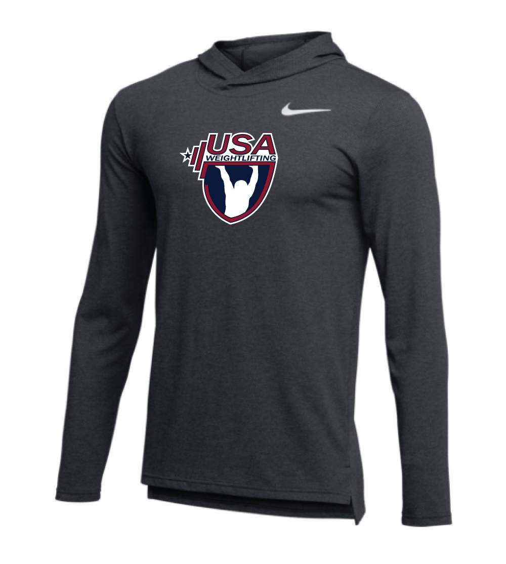 0e59d003 Nike Men's USAW Hyper Dri-Fit Breathe Hoodie - Anthracite/White