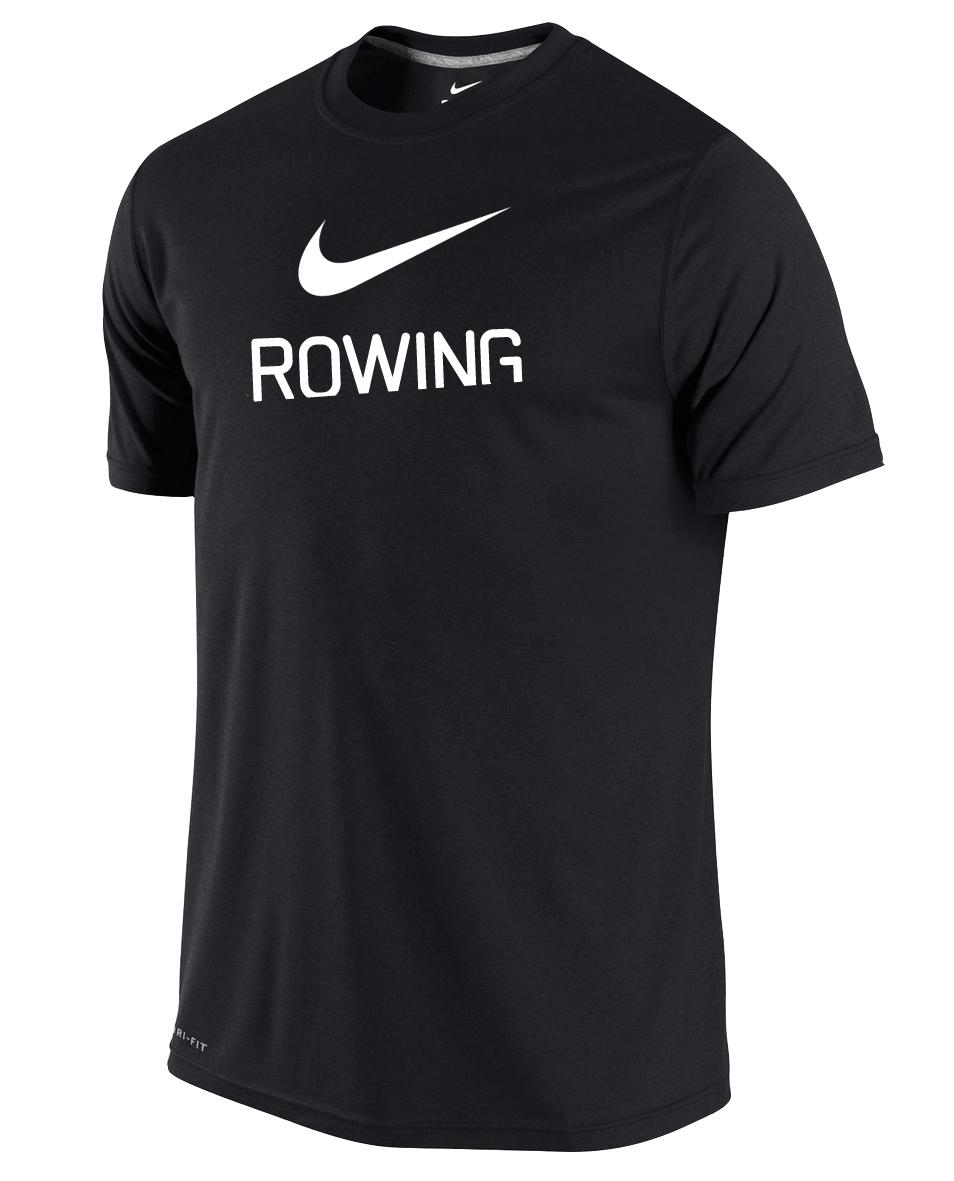 97acb622bc33 Nike Men s Dri-Fit Rowing Shirt - Black - Athlete Performance Solutions