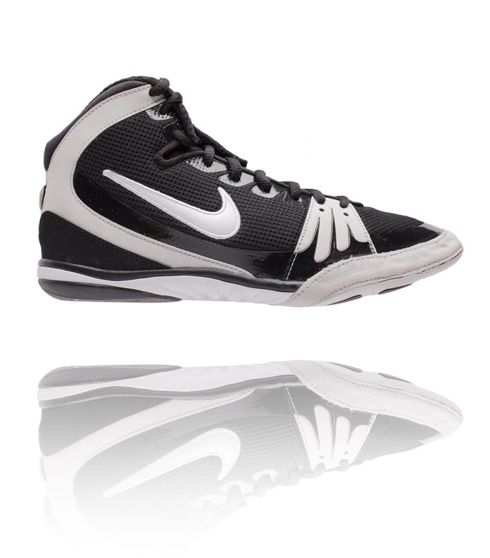 huge discount 8a21d f0df8 Nike Freek Black   White Wrestling Shoe