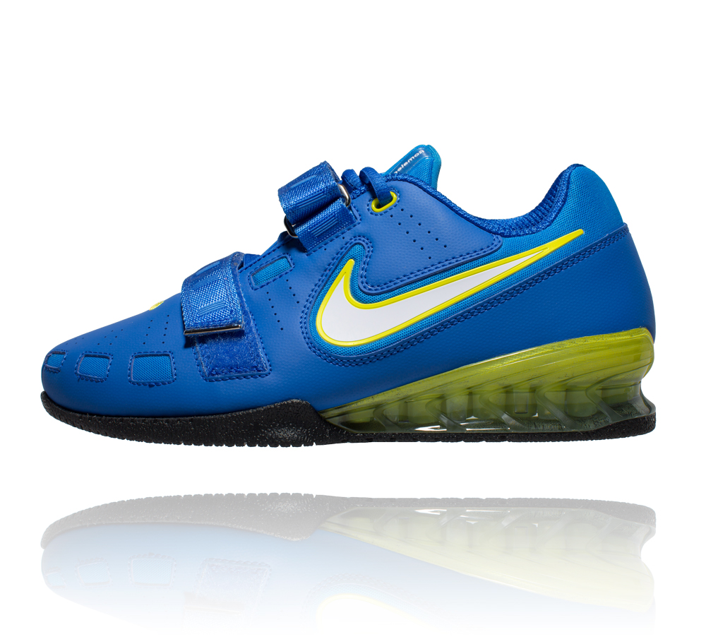e03eef28c9fa Nike Romaleos 2 Weightlifting Shoes - Hyper Cobalt Electric Yellow Blk