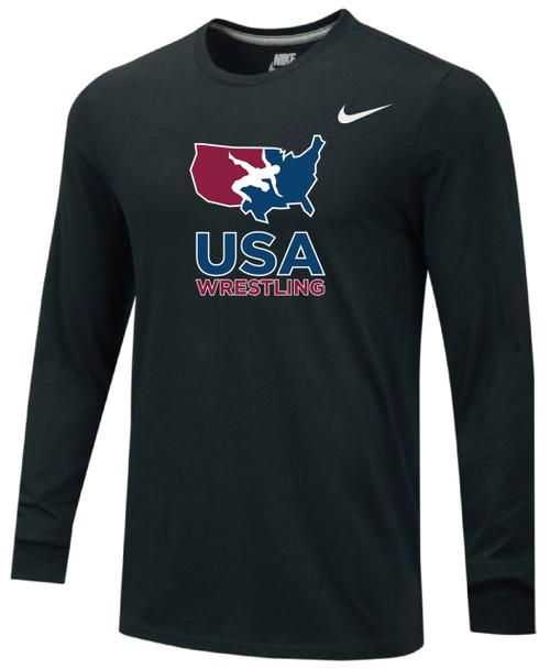 bc6a64e2 Nike Men's USAWR Team Legend LS Crew - Black/Red/White/Navy