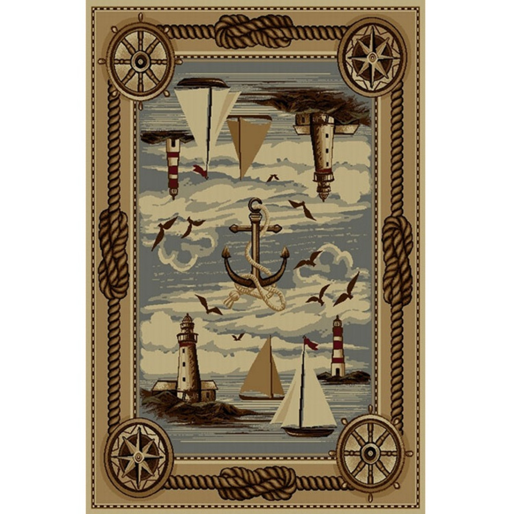 Anchor and Sailboat Wilderness Area Rug | Persian Weavers | W-751