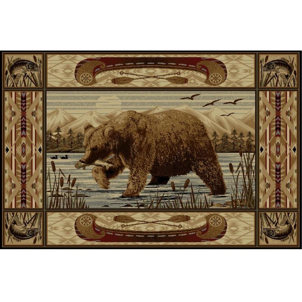 Bear Fish Wilderness Area Rug | Persian Weavers | W-761