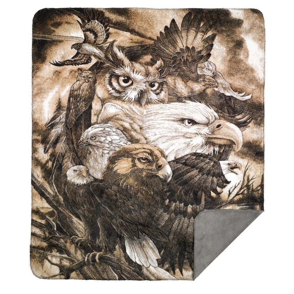 Eagle Owl Sky Kings Throw Blanket | Denali | 16119372