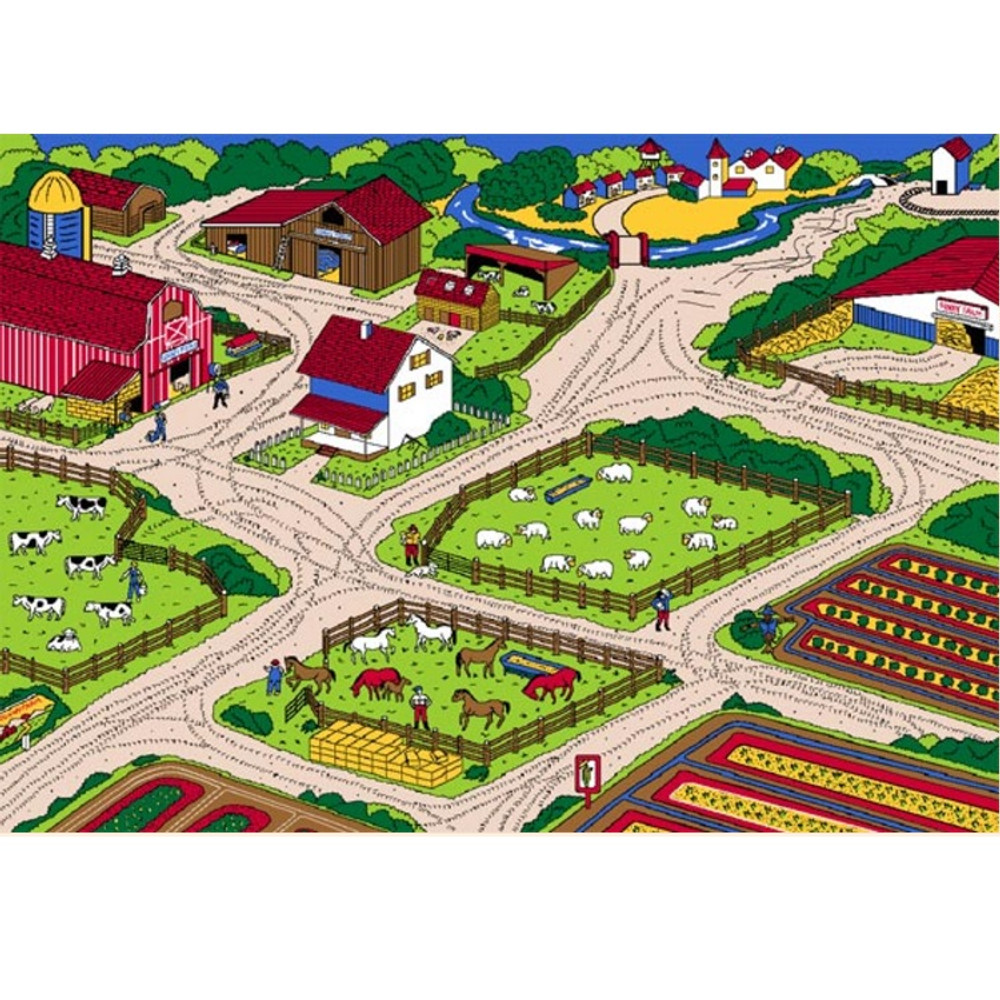 Farm Paradise Area Rug | Persian Weavers | FARM