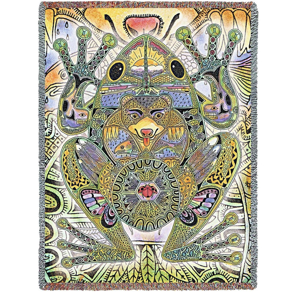Frog Tapestry Throw Blanket | Pure Country | 8004T
