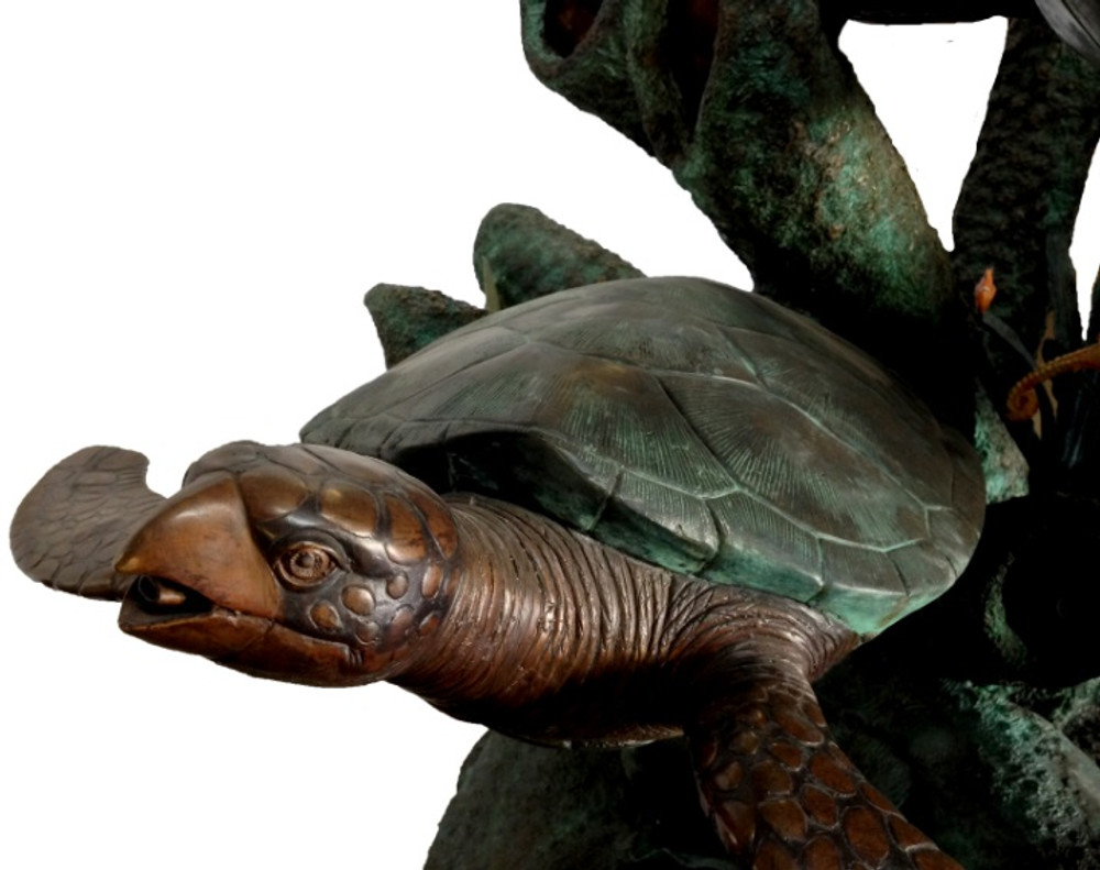 Turtles and Jellyfish Bronze Fountain Statue | Metropolitan Galleries | SRB48659-3