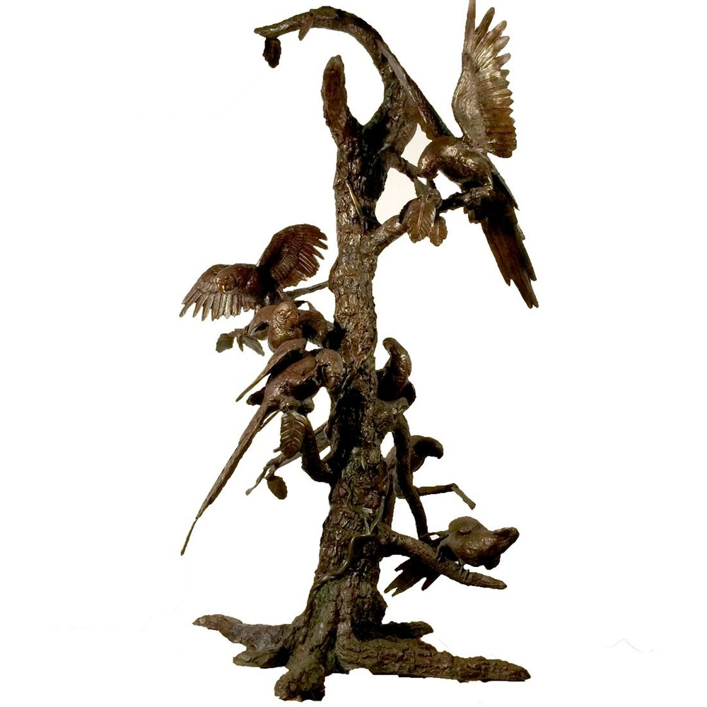Birds in Tree Bronze Statue | Metropolitan Galleries | SRB96097
