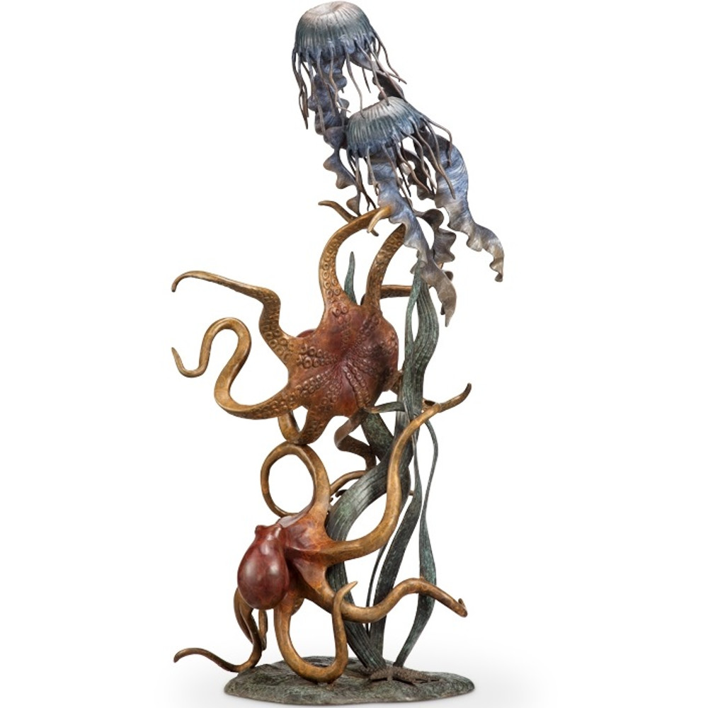 Octopus Jellyfish Sculpture | Underseas Wonder Quartet | 80334 | SPI Home