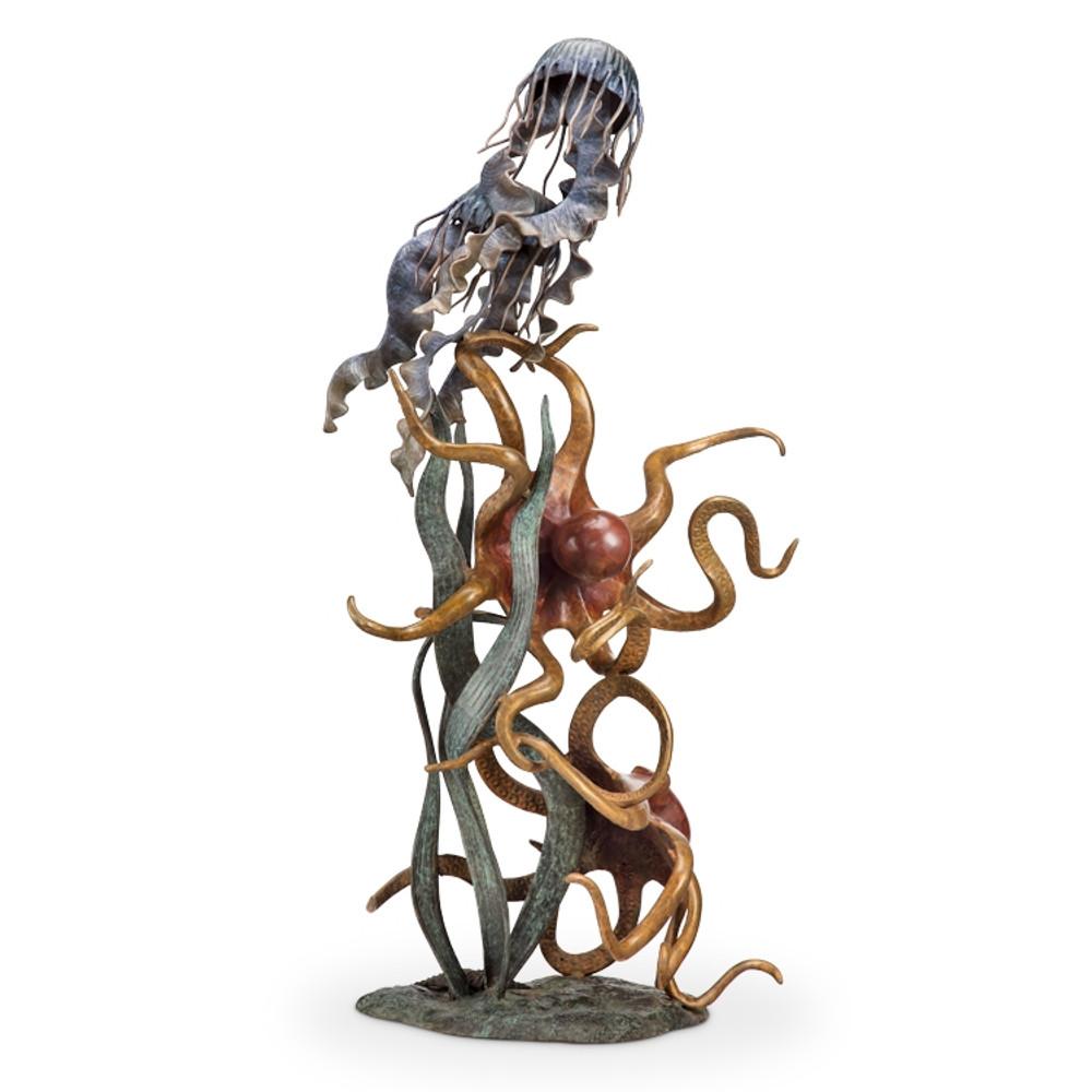 Octopus Jellyfish Sculpture | Underseas Wonder Quartet | 80334 | SPI Home -2