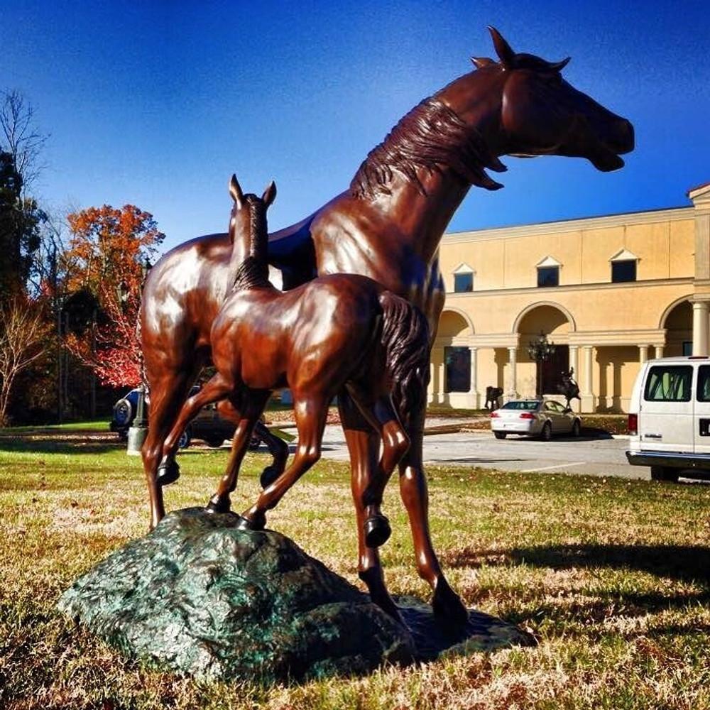 Horse and Colt Bronze Statue | Metropolitan Galleries | SRB45944
