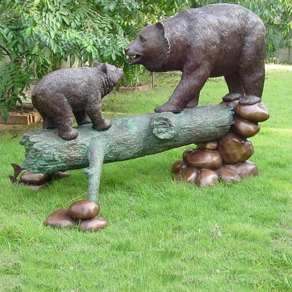 Bear and Cub Bronze Statue | Metropolitan Galleries | SRB49562-1