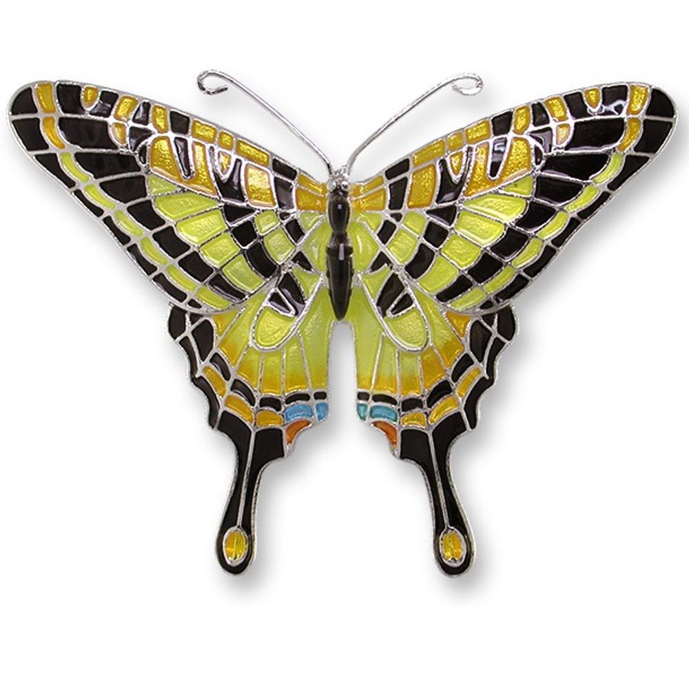 Swallowtail Butterfly Enameled Silver Plated Pin | Zarah Jewelry | 21-06-Z2