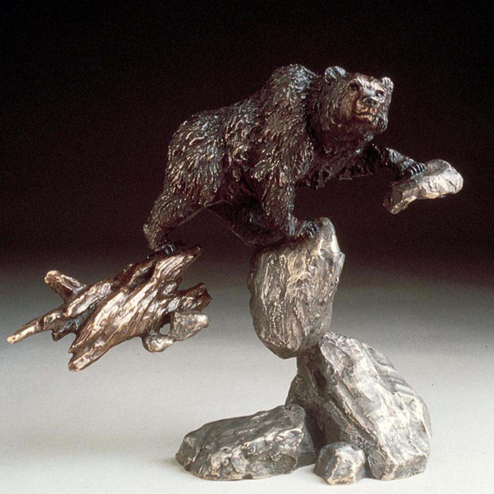 """Bear Bronze Sculpture """"Bear""""   Mark Hopkins   22013"""