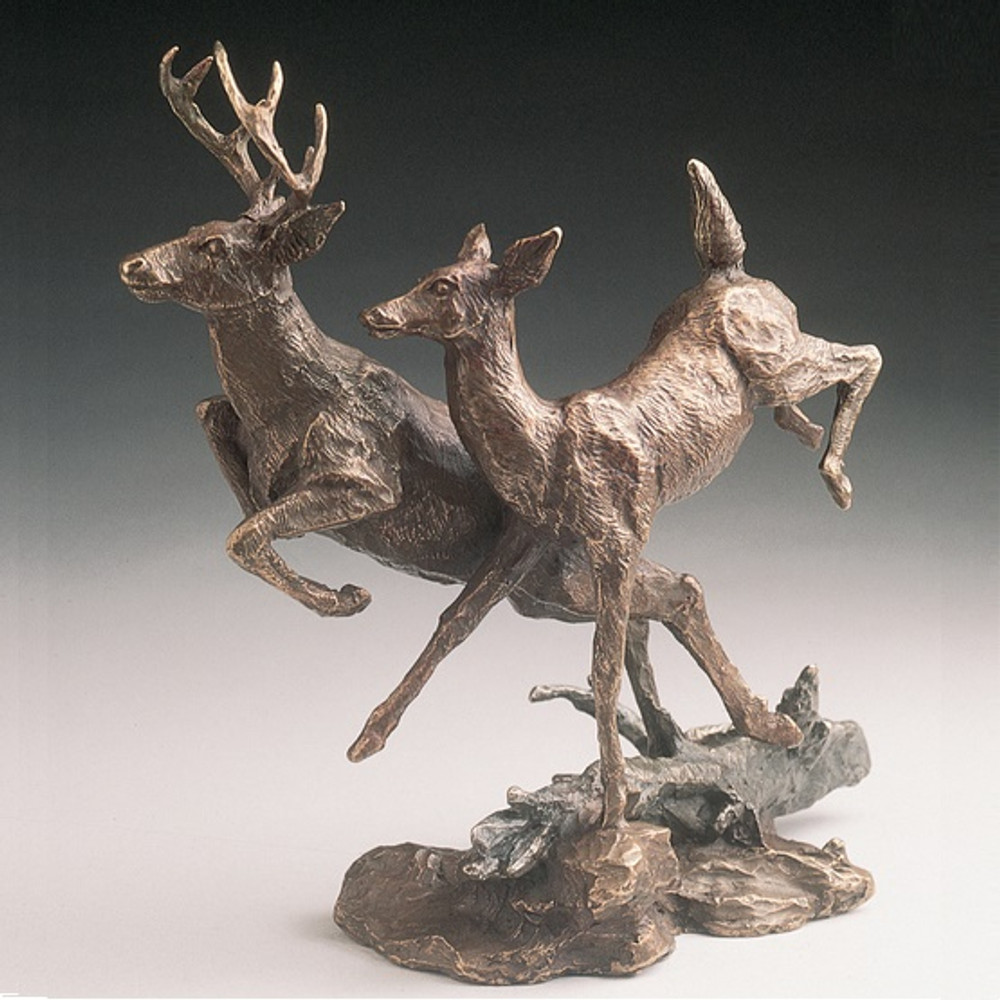 "Deer Bronze Sculpture ""Deer"" 