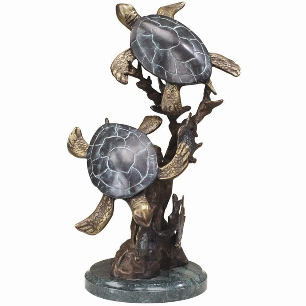 Sea Turtle Duet Small Sculpture | 30236 | SPI Home