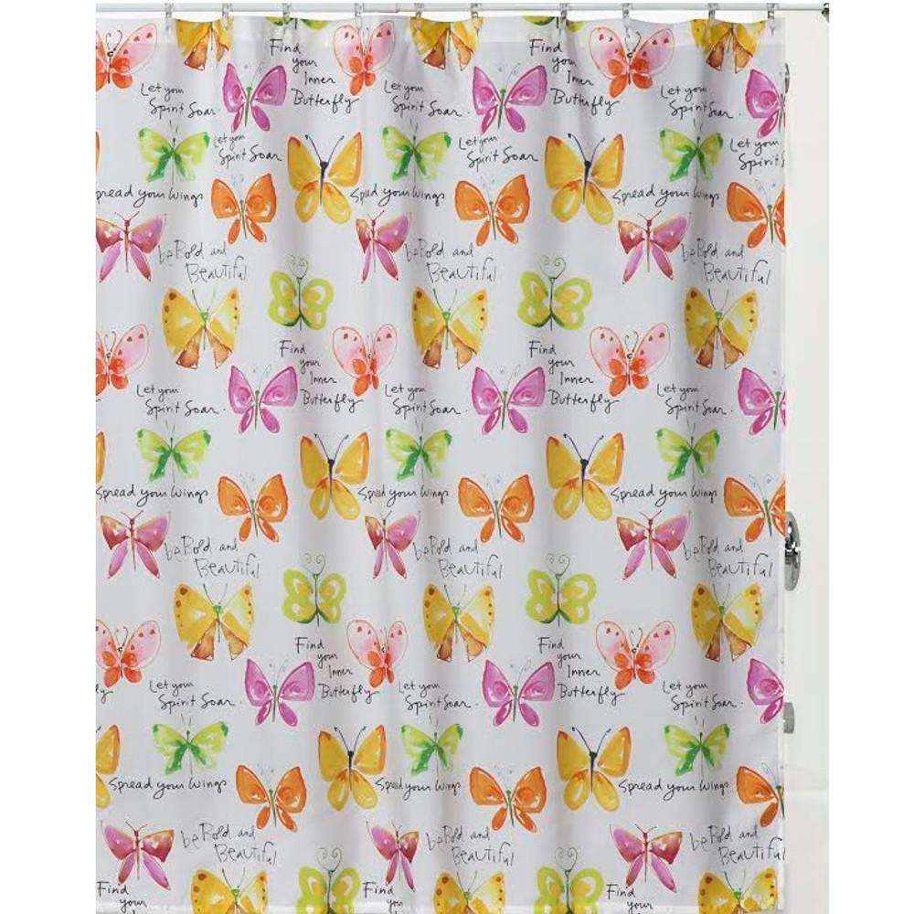 "Butterfly Shower Curtain ""Flutterby"" | S1221MULT"