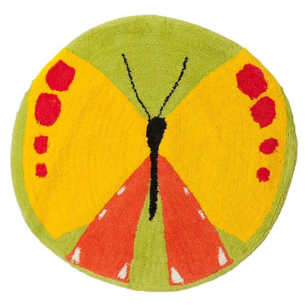 "Butterfly Bath Rug ""Flutterby"" | R1221MULT"